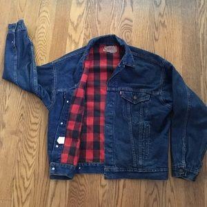 Vintage Levi's Denim Jean Jacket Flannel Lined